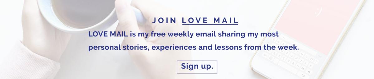 Love Mail Banner