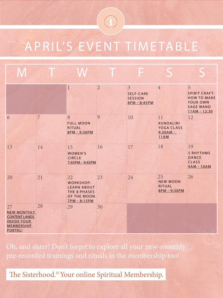 The Sisterhood_Event Timetable Template