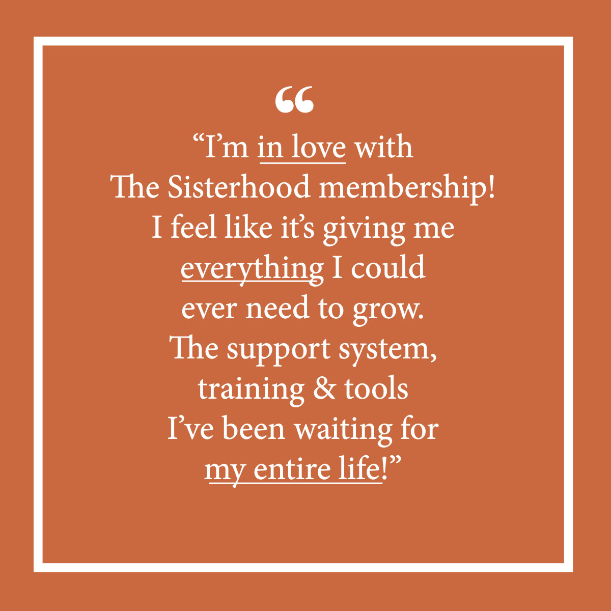 The Sisterhood_Testimonial for membership V3