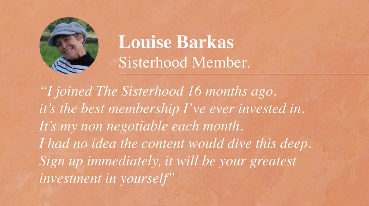 The Sisterhood Astrology Membership testimonial_Louise Barkas