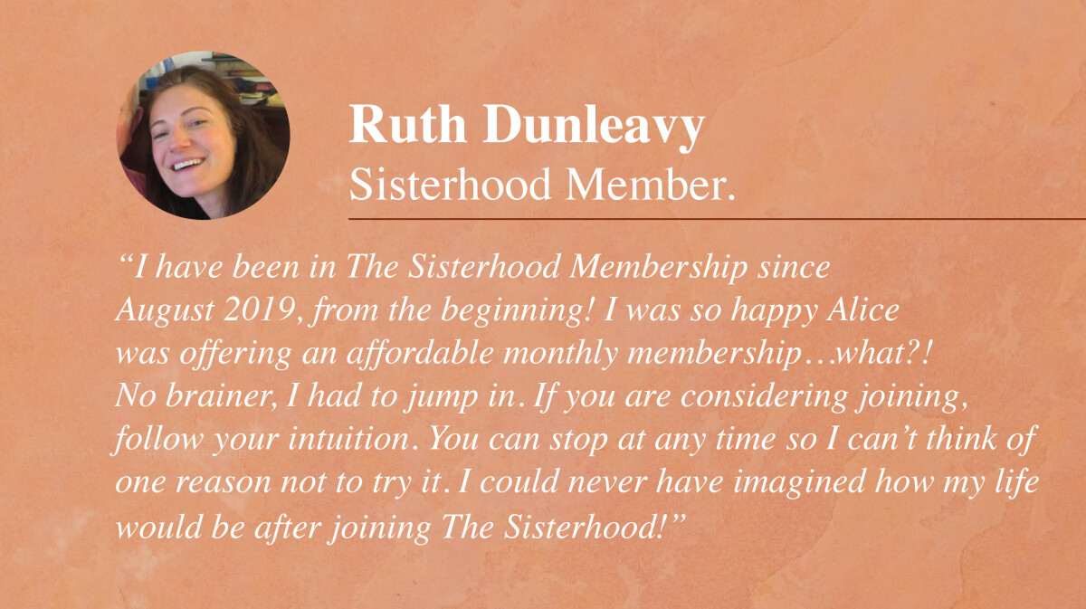 The Sisterhood Astrology Membership testimonial_Ruth Dunleavy